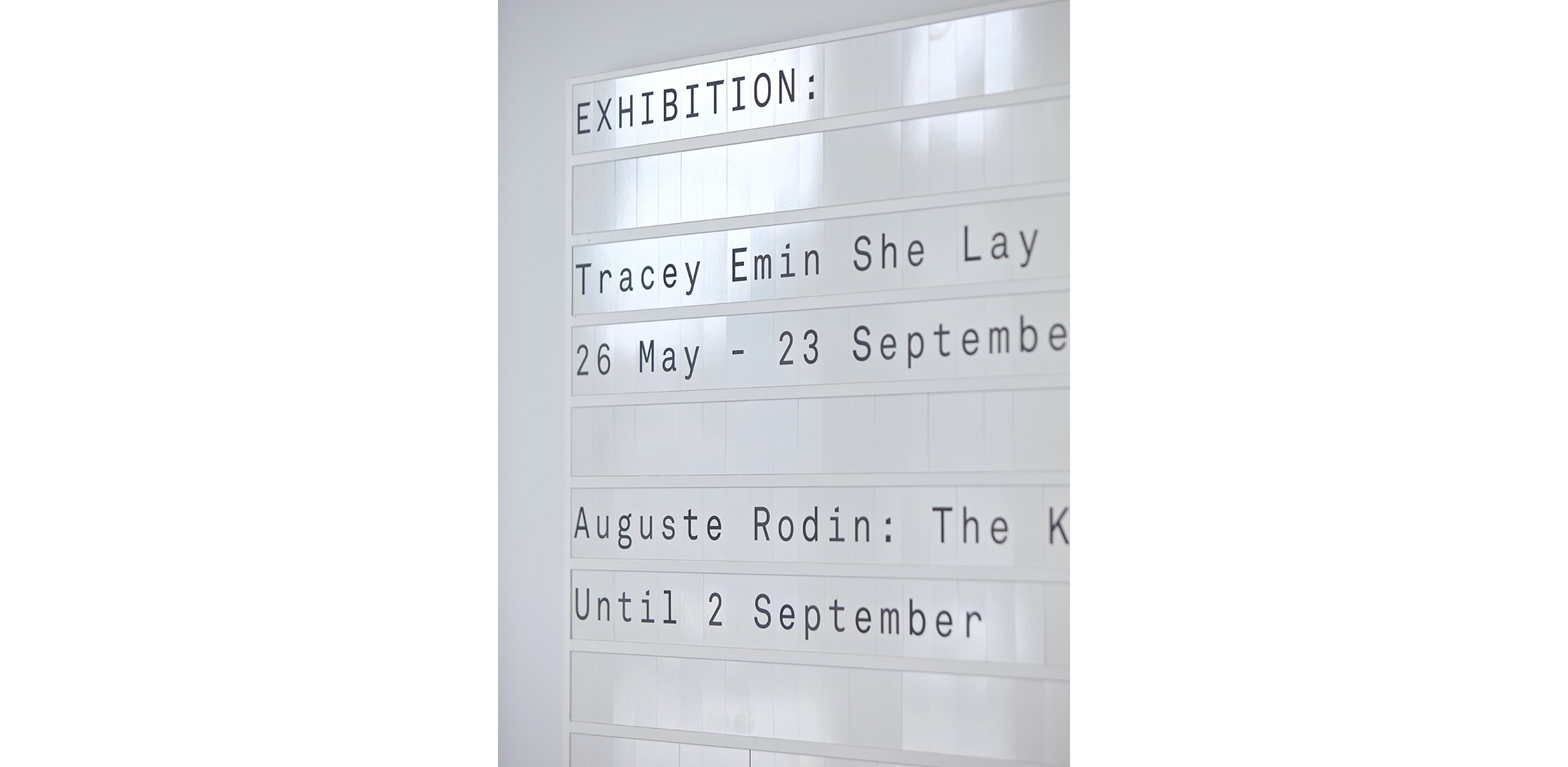 Gallery signage